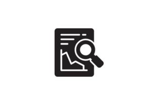 Download Free Report Analysis Glyph Icon Svg Graphic By Demolabid Creative for Cricut Explore, Silhouette and other cutting machines.