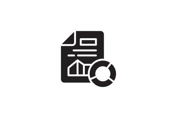 Download Free Report Data Glyph Icon Svg Graphic By Demolabid Creative Fabrica for Cricut Explore, Silhouette and other cutting machines.