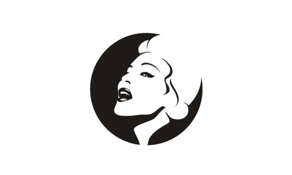 Download Free Retro Vintage Singer Beauty Woman Logo Graphic By Enola99d for Cricut Explore, Silhouette and other cutting machines.