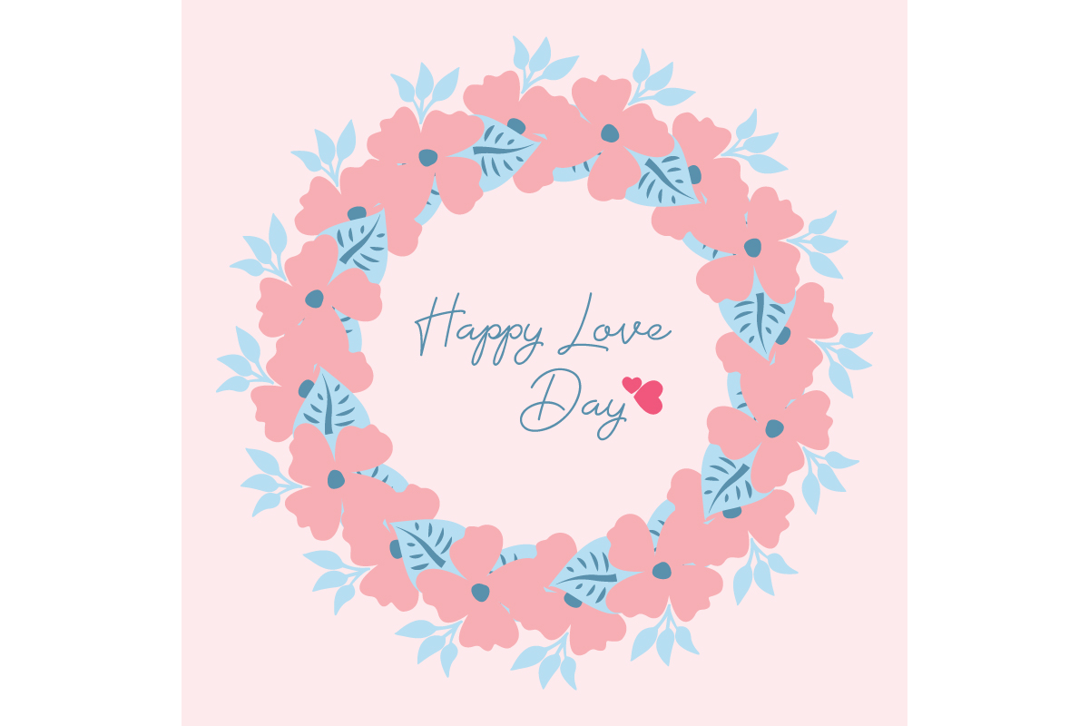 Download Free Romantic Frame For Happy Love Day Graphic By Stockfloral for Cricut Explore, Silhouette and other cutting machines.