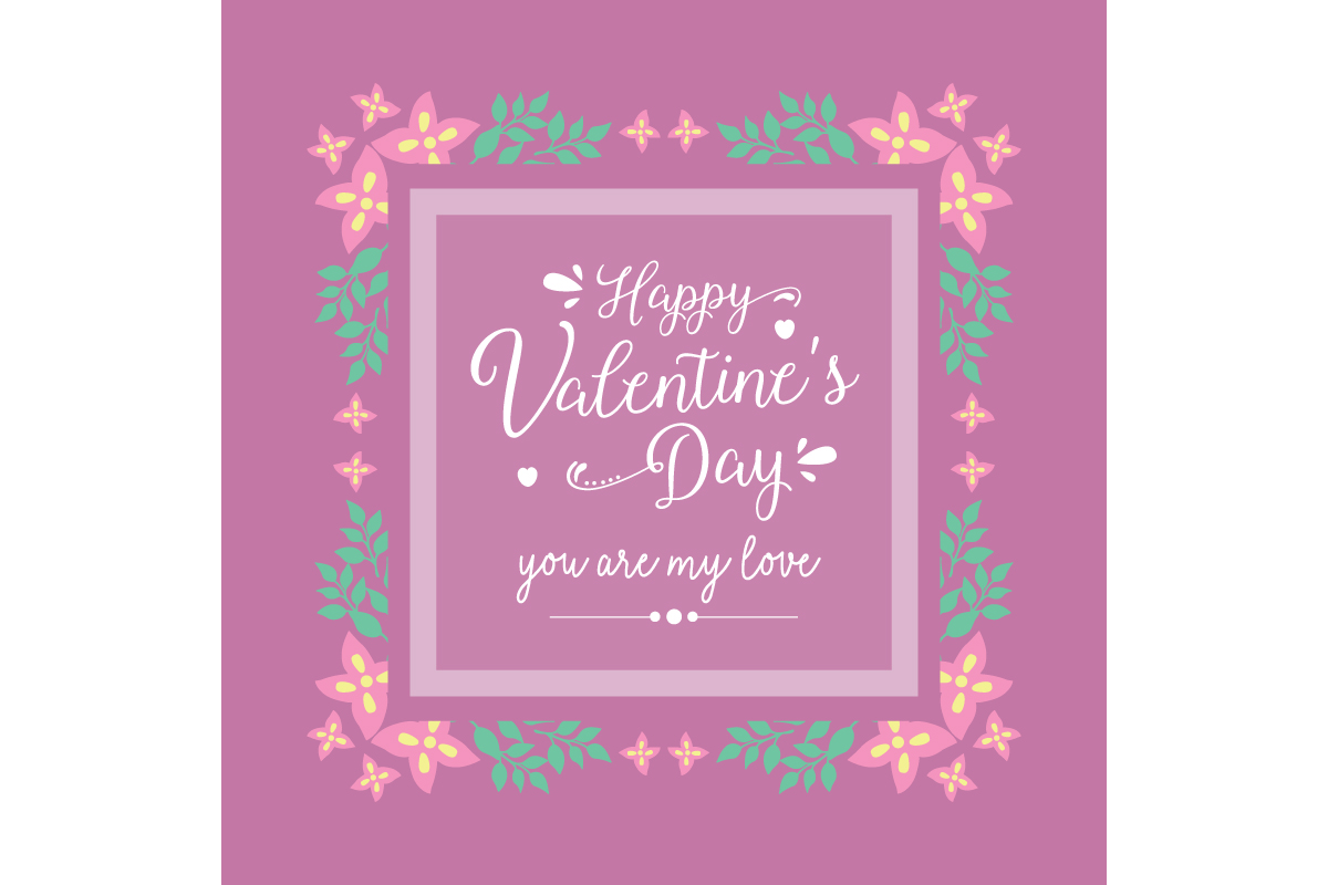Romantic Frame For Happy Valentine Card Graphic By Stockfloral
