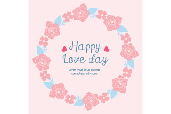 Romantic of Happy Love Day Card Design Graphic Backgrounds By stockfloral