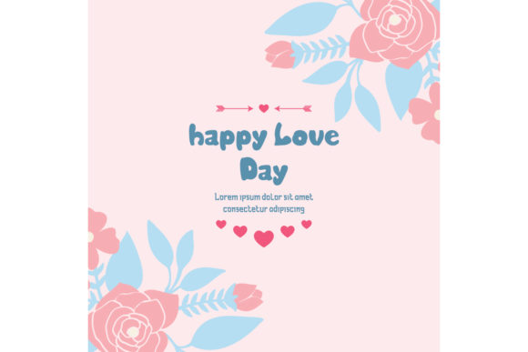 Romantic Of Happy Love Day Card Design Graphic By Stockfloral