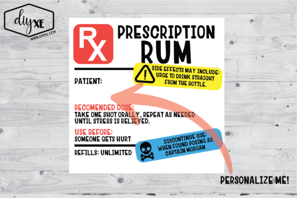 Rum Prescription Sublimation Graphic Graphic Illustrations By Sheryl Holst