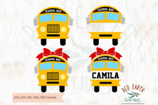 School Bus Split Monogram Graphic Crafts By redearth and gumtrees