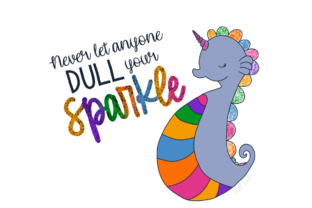 Download Free Seahorse Unicorn Graphic By Artsy By Sweet Tea Creative Fabrica for Cricut Explore, Silhouette and other cutting machines.