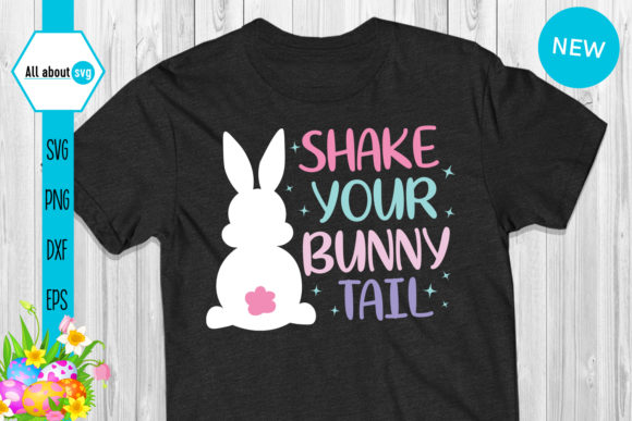 Download Free Shake Your Bunny Tail Graphic By All About Svg Creative Fabrica for Cricut Explore, Silhouette and other cutting machines.