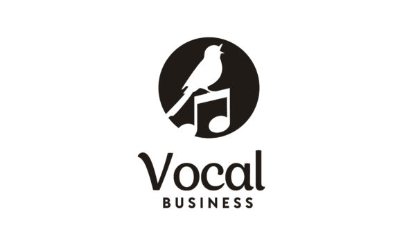Download Free Singing Bird Music Note Sing Vocal Logo Graphic By Enola99d for Cricut Explore, Silhouette and other cutting machines.