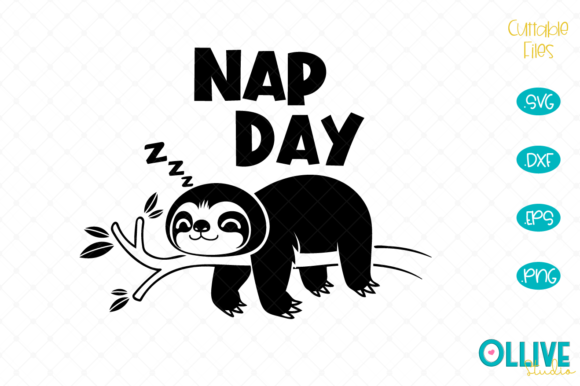 Sloth Nap Day Graphic Crafts By ollivestudio
