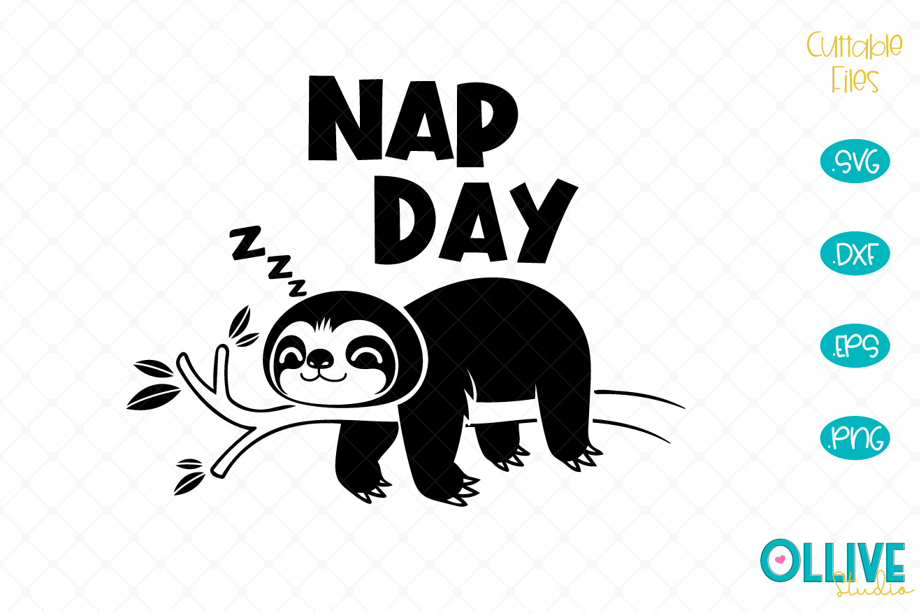 Download Free Sloth Nap Day Graphic By Ollivestudio Creative Fabrica for Cricut Explore, Silhouette and other cutting machines.
