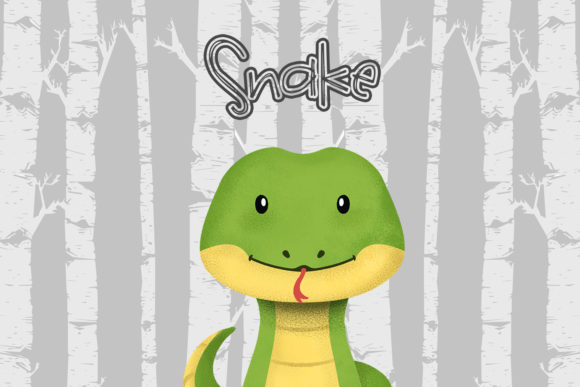 Print on Demand: Snake Nursery Art Woodland Animal Gráfico Ilustraciones Por accaliadigital