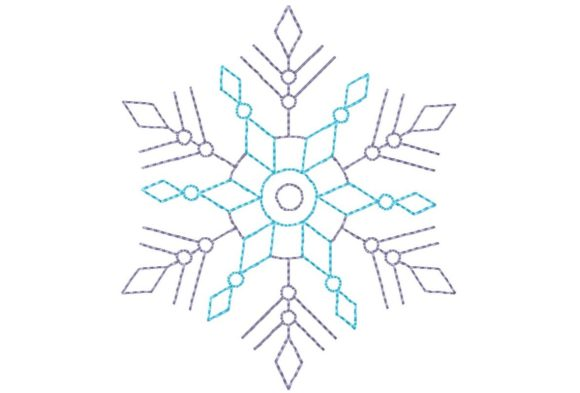 Snowflake Winter Embroidery Design By Thread Treasures Embroidery