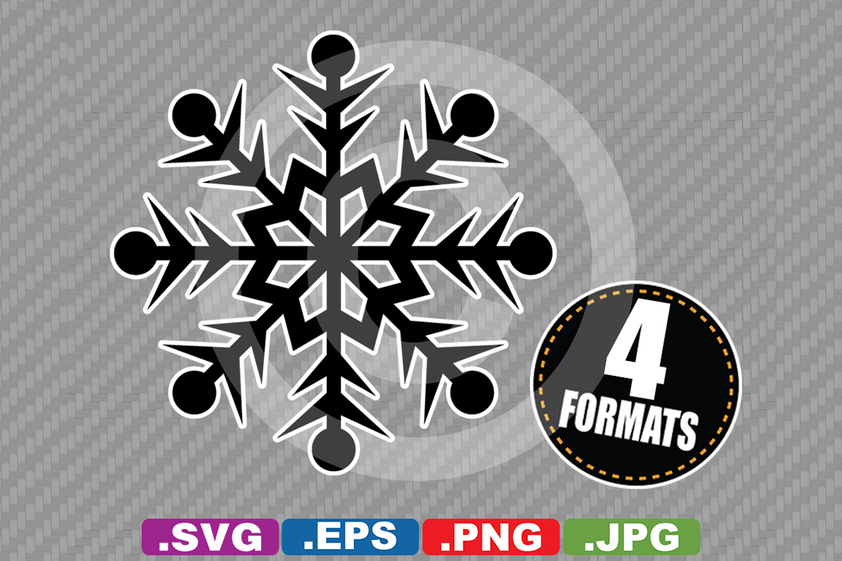 Download Free Snowflake Silhouette Graphic By Idrawsilhouettes Creative Fabrica for Cricut Explore, Silhouette and other cutting machines.