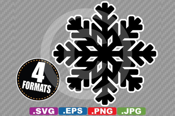 Download Free Snowflake Silhouette Graphic By Idrawsilhouettes Creative Fabrica SVG Cut Files