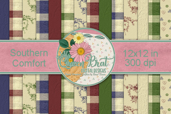 Print on Demand: Southern Comfort Backgrounds Graphic Backgrounds By QueenBrat Digital Designs
