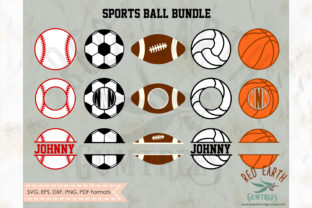 Sports Ball and Monograms Bundle SVG Graphic Crafts By redearth and gumtrees