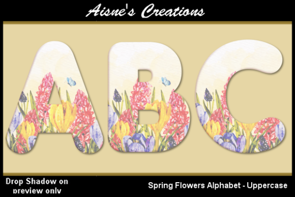 Print on Demand: Spring Flowers Alphabet Uppercase Graphic Objects By Aisne