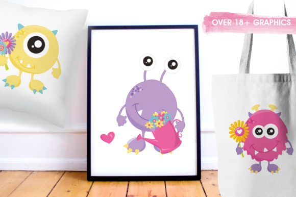 Print on Demand: Spring Monster Graphic Illustrations By Prettygrafik - Image 5