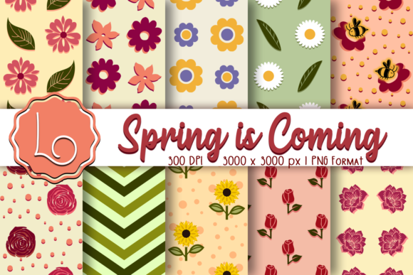 Print on Demand: Spring is Coming - Season Patterns Graphic Patterns By La Oliveira