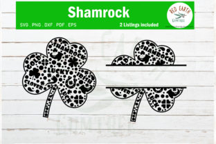 St Patrick's Shamrock Monogram Clover Graphic Crafts By redearth and gumtrees