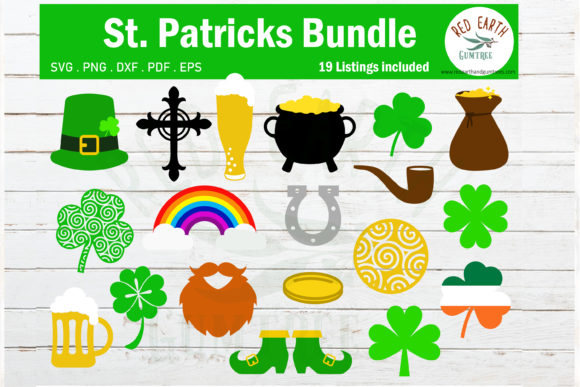 St. Patrick's Day Elements Bundle Graphic Crafts By redearth and gumtrees