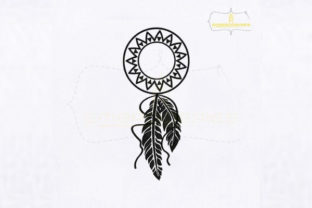 Download Free Star Circle Monogram Dream Catcher Creative Fabrica for Cricut Explore, Silhouette and other cutting machines.