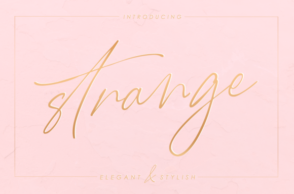 Print on Demand: Strange Script & Handwritten Font By enyaaa90