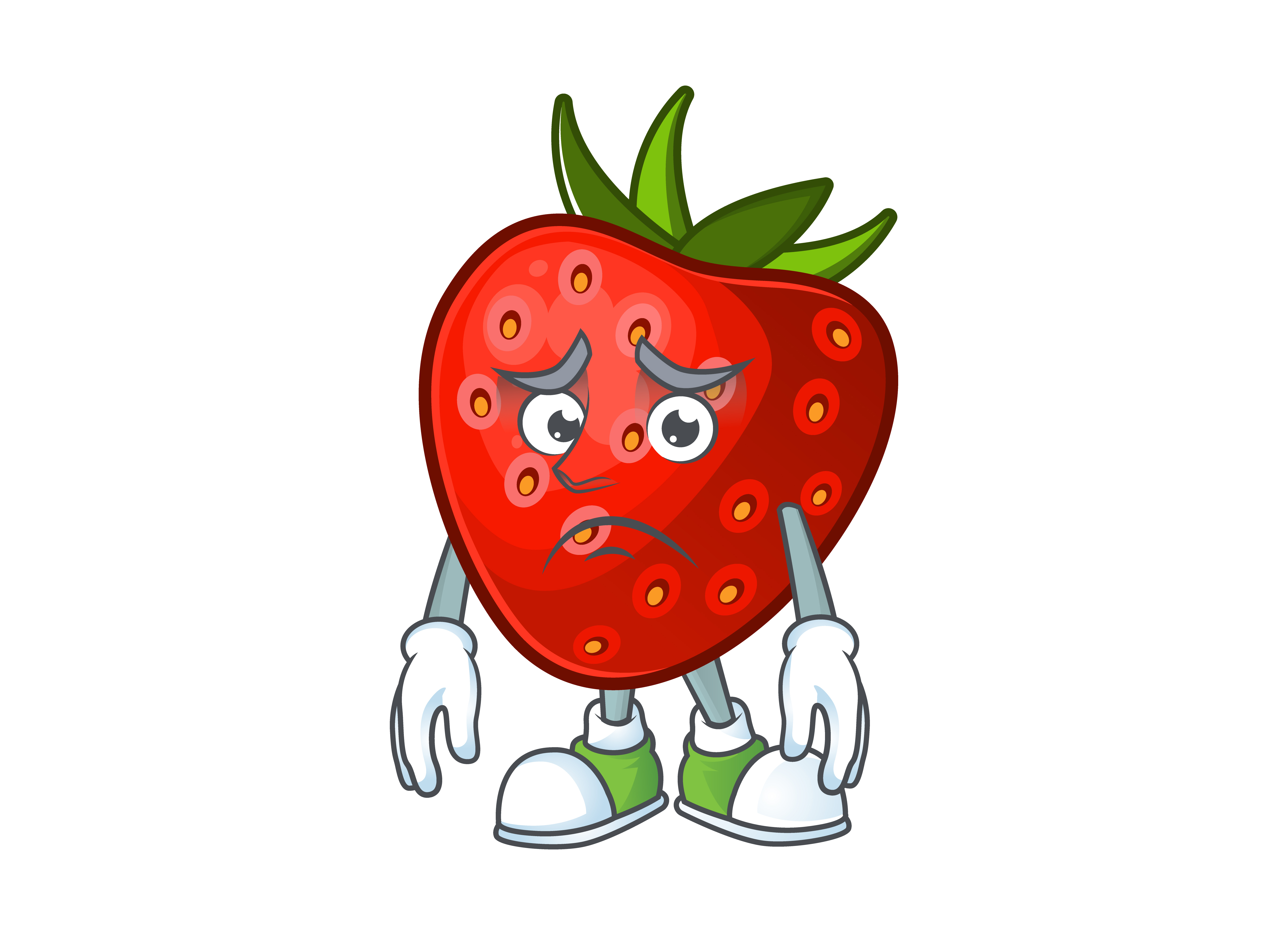 Download Free Strawberry Cartoon Character Style Graphic By Kongvector2020 Creative Fabrica for Cricut Explore, Silhouette and other cutting machines.