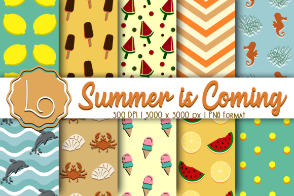 Print on Demand: Summer is Coming - Season Patterns Graphic Patterns By La Oliveira - Image 1
