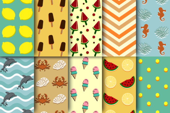 Print on Demand: Summer is Coming - Season Patterns Graphic Patterns By La Oliveira - Image 2