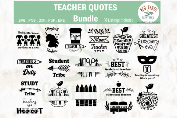 Download Free Teachers And Students Quotes Bundle Graphic By Redearth And SVG Cut Files
