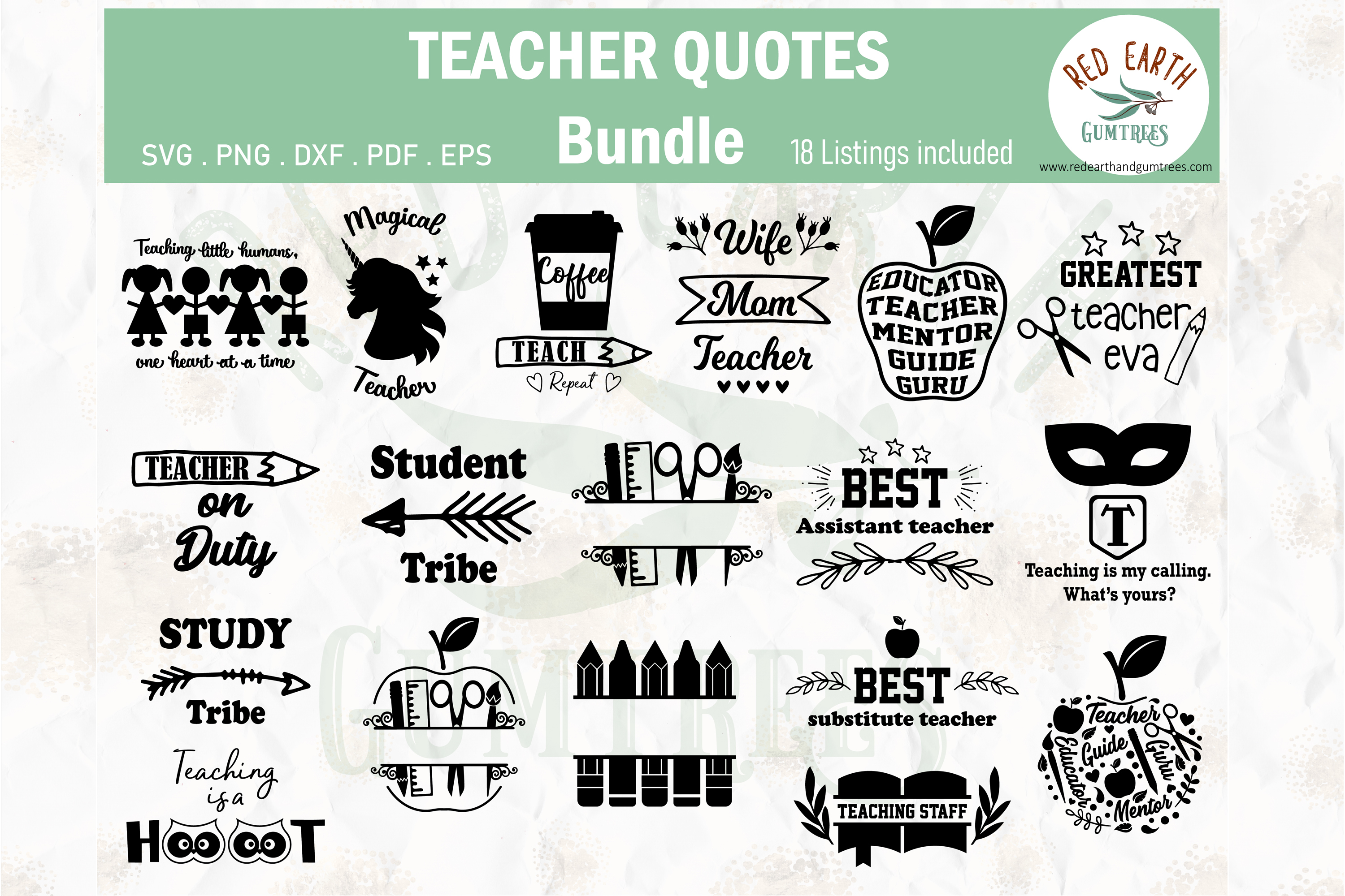 Download Free Teachers And Students Quotes Bundle Graphic By Redearth And for Cricut Explore, Silhouette and other cutting machines.