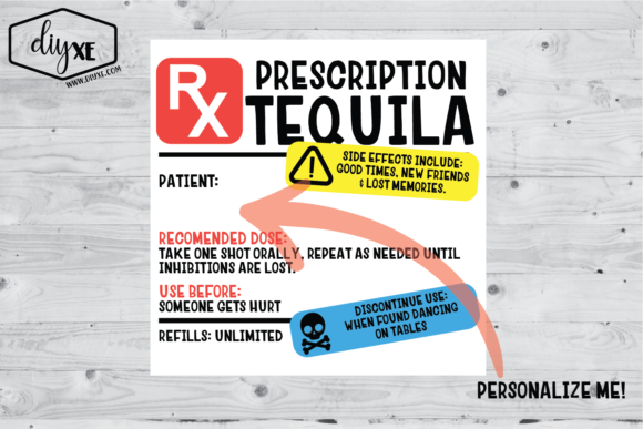 Tequila Prescription Sublimation Graphic Graphic Illustrations By Sheryl Holst