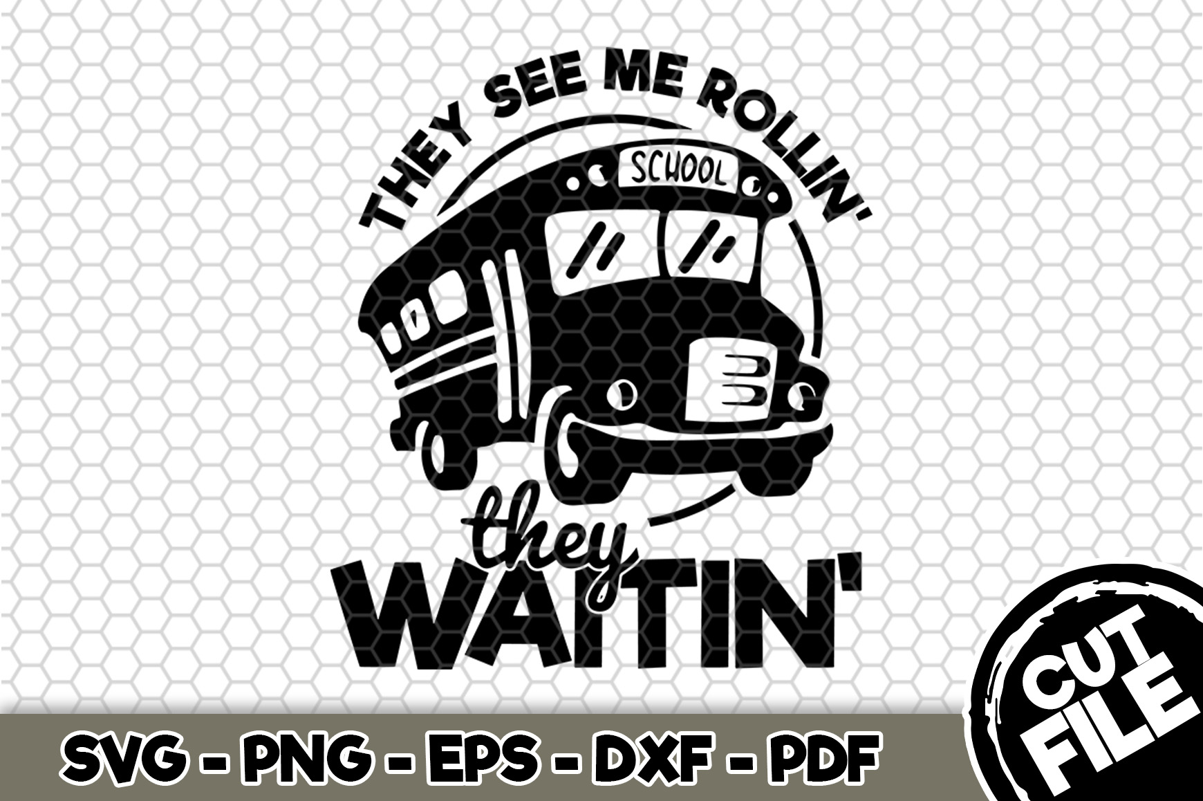 Download Free They See Me Rollin They Waitin Graphic By Svgexpress for Cricut Explore, Silhouette and other cutting machines.