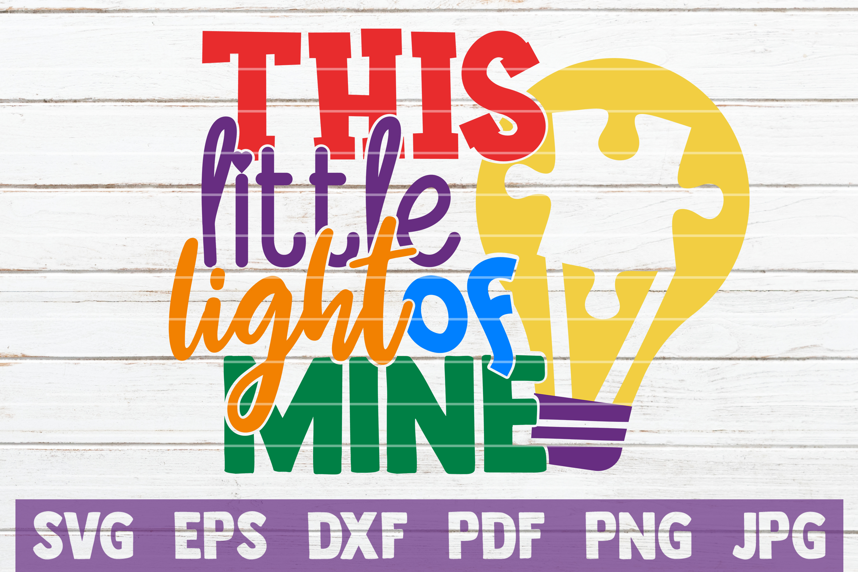 Download Free This Little Light Of Mine Graphic By Mintymarshmallows for Cricut Explore, Silhouette and other cutting machines.