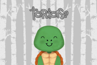 Download Free Tortoise Nursery Art Woodland Animal Graphic By Accaliadigital Creative Fabrica for Cricut Explore, Silhouette and other cutting machines.