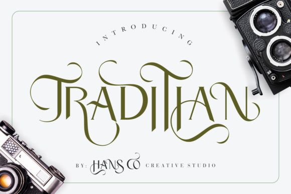 Print on Demand: Traditian Display Font By HansCo