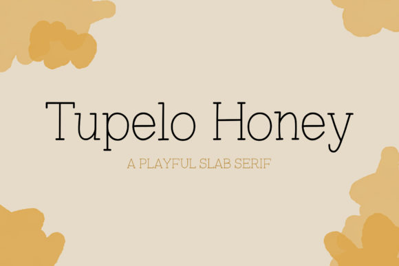 Print on Demand: Tupelo Honey Slab Serif Font By One Twenty Studio