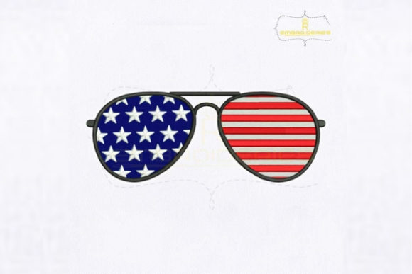 USA Merica Sunglasses Accessories Embroidery Design By royalembroideries