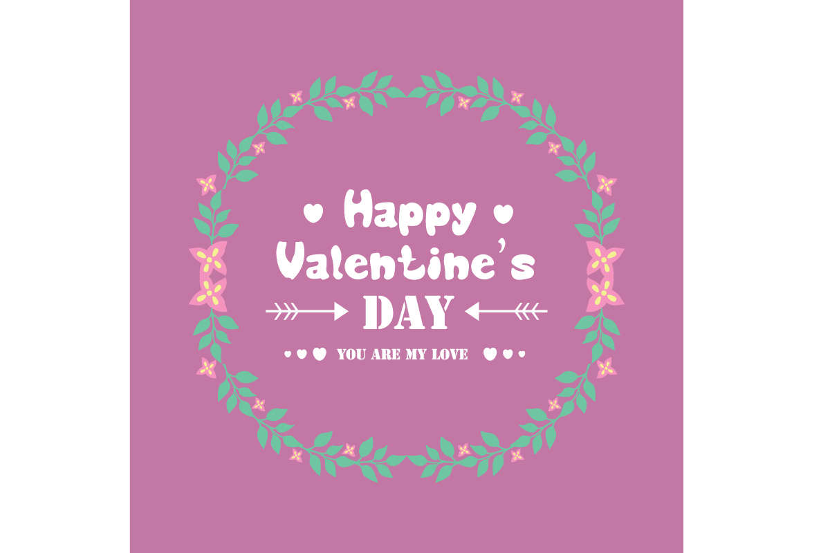 Unique Frame For Happy Valentine Card Graphic By Stockfloral