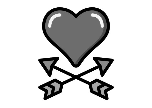 Download Free Cupid S Arrows Valentines Day Graphic By Cool Coolpkm3 for Cricut Explore, Silhouette and other cutting machines.