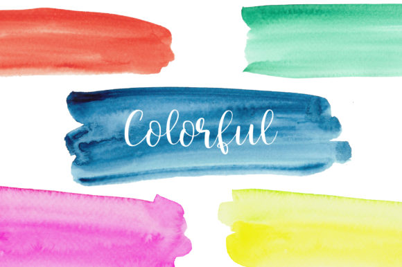 Download Free Watercolor Paint Brush Strokes Clipart Graphic By Pinkpearly for Cricut Explore, Silhouette and other cutting machines.