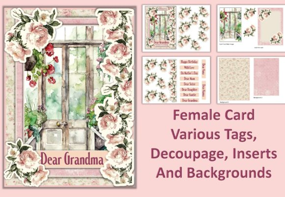 Watercolour Garden Card Making Kit 4 Graphic Crafts By DigitalCraftsco