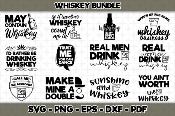 Print on Demand: Whisky Bundle - 12 Designs Included Graphic Crafts By SVGExpress