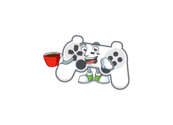 White Joystick Cartoon Character Style Graphic Illustrations By KongVector2020
