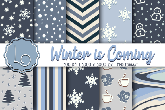 Download Free Winter Is Coming Season Patterns Graphic By La Oliveira for Cricut Explore, Silhouette and other cutting machines.