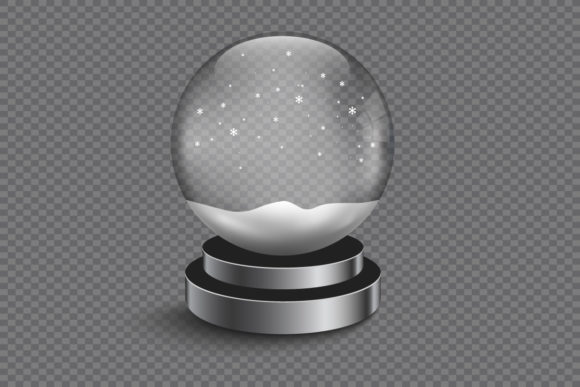 Download Free Xmas Empty Snow Globe Graphic By Gee 00 Creative Fabrica for Cricut Explore, Silhouette and other cutting machines.