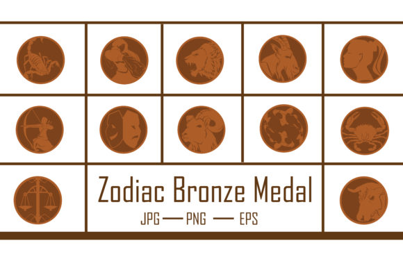 Zodiac Bronze Medal Graphic Crafts By RFG