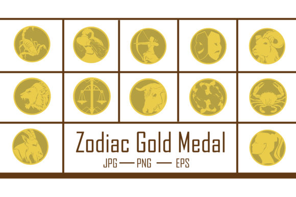 Zodiac Gold Medal Graphic Crafts By RFG