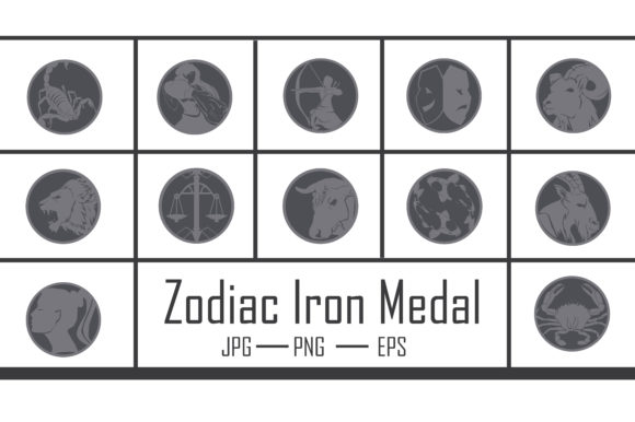 Zodiac Iron Medal Graphic Crafts By RFG